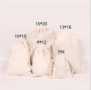 Tuval İpli Torbalar Takı Çanta 100% Doğal Pamuk Çamaşır Iyilik Tutucu Moda Takı Torbalar