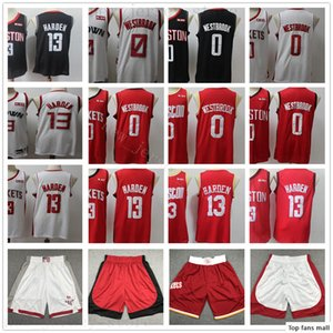2020 New Season Basketball James 13 Harden Jerseys Stitched Russell 0 Westbrook Black White Red City Jerseys Shorts Best Quality for Man