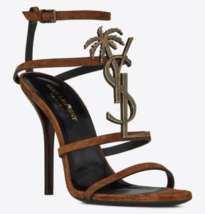 새로운 도착 브랜드 섹시한 신발 여성 여름 버클 스트랩 리벳 샌들 하이가 굽 신발 뾰족한 발가락 패션 럭셔리 싱글 높은 힐 10cm의 8cm