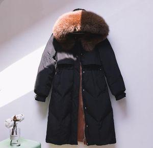 Designer moyen Femmes Parkas Longueur Veste Épaississement hiver Femmes Down manteaux de femmes Manteaux d'hiver de la mode Haute Qualité gros