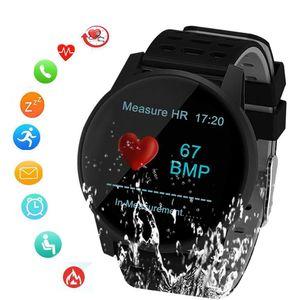 Presión SUNROAD inteligente Deportes de Sangre Control de las pulsaciones reloj podómetro digital con IP67 a prueba de agua mensaje recordatorio LY191213