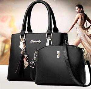 المرأة حقيبة أزياء عارضة تحتوي على مجموعتين الفاخرة حقيبة يد مصمم حقائب الكتف حقائب جديدة للمرأة 2019 حقائب حقيبة مركب