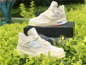 Aus Authentic 2020 x White 4 SP WMNS Sail Bred Mann-Basketball-Schuhe Muslin Weiß Schwarz Sneaker Sneakers Outdoor Sports mit ursprünglichem Kasten