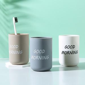 Enjuague bucal Copa del hogar Bebidas taza de plástico taza de agua Buenos días Solid color de los dientes de cepillado taza de agua