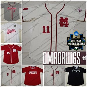 CWS 2019 Mississippi State Bulldogs Baseballtrikot 17 Justin Foscue 27 Bryce Brock 34 Marshall Gilbert 11 Westburg OMADAWGS S-4XL