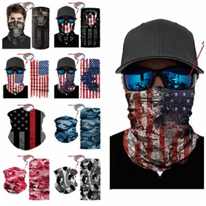 new Outdoor USA Flag magic headscarf bandana cycling masks Head Neck Scarves Windproof Sport face mask with Filter party Mask T2I51007