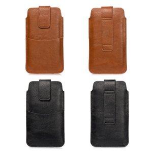 삼성 화웨이 LG 모토 휴대 전화 케이스 파우치 남성의 휴대 전화 벨트 가방 카드 홀더 지갑 PU 가죽 허리 팩 가방 범용