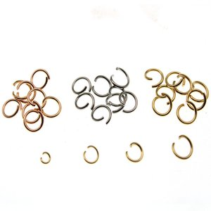ewelry Findings & Components 100pc Stainless Steel Jump Rings Single Loops Open Split Rings Connector For Jewelry Making Earring DIY Find...