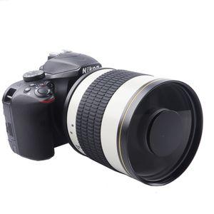 500mm F6.3 Telefoto Ayna Lens + T2 Canon 1100D 1200D için Montaj Adaptörü Yüzük 1300D 100D 200D 300D 350D 400D 450D Nikon Kamera