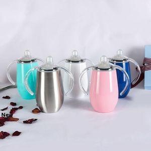 8온스 14온스 스테인레스 스틸시피 젖꼭지 컵 진공 절연 컵 와인 유리 커피 맥주 머그컵 어린이 우유 컵 CCA11367의 25pcs