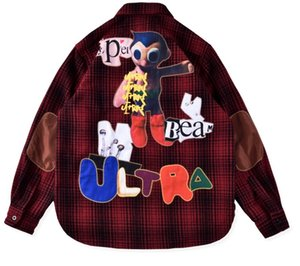 Lusso europeo ricamo di lana Lattice Shirts allentato High Street a manica lunga Coppia donne del progettista del Mens HFXHJK086 cappotto di alta qualità