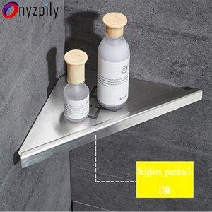 Onyzpily Bathroom Shelf Corner Bathroom Hanger Toilet Rack Stainless Steel Shelf Corner Basket Triangular Hanger