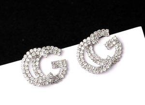 Designer Double Earrings Ear Studs Gold Tone Earring For Women Men Wedding Party Jewelry Gift
