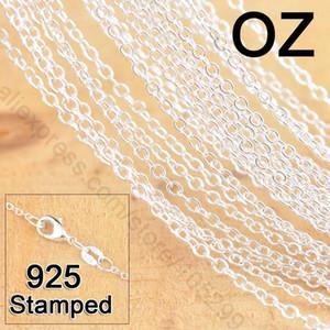 50pcs 18inch 925 Sterling Silver jóia ligação Rolo Chains Colar com lagosta Fechos Mulheres Jewlery preço de fábrica da Rápido frete grátis