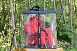 kutusuyla Kadınlar Sevgililer Hediyesi için Dropshipping Tavşan ve Köpek Gül Sabun Köpüğü Çiçek Yapay Yılbaşı Hediyeleri