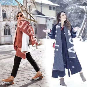 Winter New Fashion Studio hang tag scarf thick Cashmere Scarves long style acne letter women's luxury shawl 180*70cm