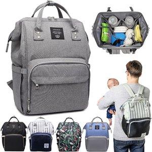Lequeen la bolsa de pañales del bebé bolsas impermeables Mochila Bolsa de maternidad para la madre de enfermería del panal Bolsas de gran bolso de mamá bebé Accesorios Y200107