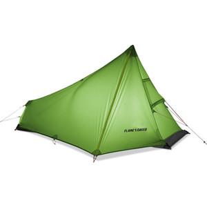 De Cree CHAMA única pessoa Tent Oudoor Ultraleve Camping Tenda 3 Temporada Professional 15D Nylon Silicon Coating sem haste 740g