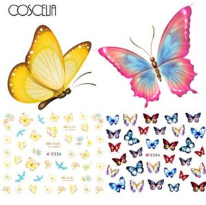 24 adet Nail Sticker Kelebek Çiçek Su Transferi Çıkartma Kaydırıcılar Nail Art Dekorasyon Dövme Manikür Sarar Araçları İpucu