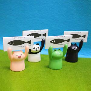 Desktop Ornament Frosch Büro Tisch Name Kartenhalter Halten Beine Schweine Visitenkartenhalter Neue Ankunft 4 55mt L1