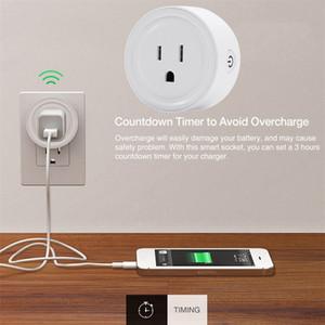 2020 Smart Plug Inteligente WiFi zócalo de energía de los Estados Unidos enchufe inglés de la UE switch En Página principal de Google App de control Para Alexa conectado por Wi-Fi Enchufe 20pcs DHL