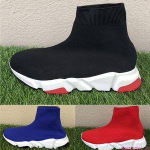 Fashion paris sock casual shoes speed trainer prune royal grey triple black white men women luxury designer sneakers high quality