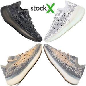 2020 En Kaliteli Kanye West 380 yabancı Mist 3M Yansıtıcı Kutusu ile Kil Beluga Üçlü Siyah Beyaz Womens Ayakkabı Koşu ayakkabıları