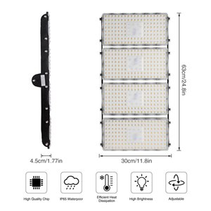 400W 7th Generation Module Flood Light Warm White 110V For Indoor and Outdoor Lighting Garden, Courtyard, Parking Led Lamp