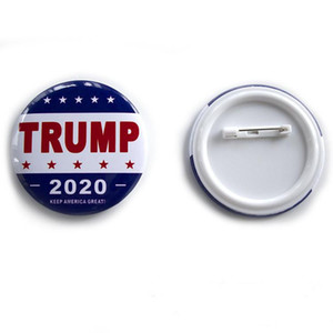 NEW Trump Metal Badge 2020 Tinplate Pins America President Republican Campaign Political Brooch Coat Jewelry Brooches Gifts DHL Free