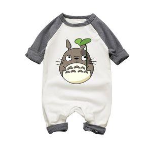 Cartoon Baby Boys Girls Printing Rompers Autumn Long Sleeve Totoro Baby Costume Infant Newbron Cotton Jumpsuits Clothing Set J190526