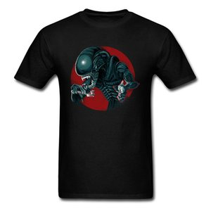 Steampunk T Shirt Alien Fresh Tops Men Cotton Clothing O Neck Tee 3D Mutant Monster Tshirt Plus Size 90s T-shirt Black