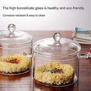Hot Sale 1300Ml Creative Soup Pot Transparent Glass Cooker Salad Instant Noodle Bowl Handmade Cooking Tools Kitchen Supplies