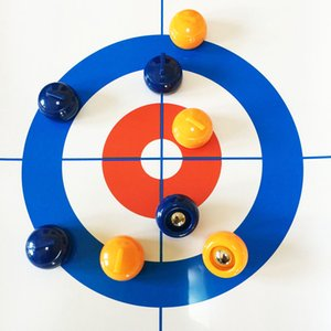 Tabletop Curling Game Compact Entermainent Curling Board Mini Table Games Family School Travel Play Curling Training Game Set