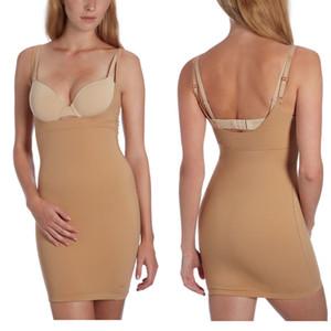 Womens 플러스 사이즈 원피스 매끄러운 미디엄 컨트롤 Slim Bottoming Shapewear Shapers Dress Y19070201 슬립