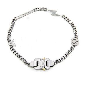 19ss Аликс ожерелье браслет Металлические цепи Мужчины Женщины Hip Hop аксессуары Открытый Аликс Street Улыбайтесь ожерелье