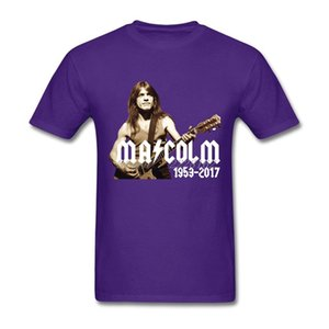 AC DC T-Shirt Mens Clothing Malcolm Young Handsome Person Music Rock T Shirts Man