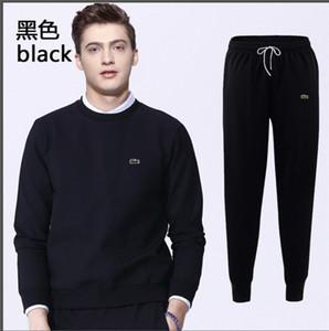 Moda Erkek Eşofman 2018 Yeni spor takım elbise Lüks Çizgili Eşofman Erkek tasarımcı eşofman Ceketler pantolon Pantolon Rahat Spor