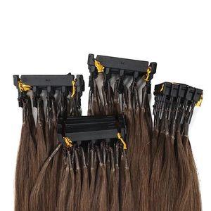6D 두 번째 사전 보세 브라질 인간의 머리 확장 그린 VMAE 고품질 천연 블랙 금발 브라운 컬러 표피 정렬 레미 더블
