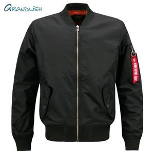 Grandwish para hombre de la nueva marca de la chaqueta informal Hombre de gran tamaño Piloto de la chaqueta de bombardero Tamaño grandes masculinas S-7XL 8XL Abrigo envío de la gota, DA908