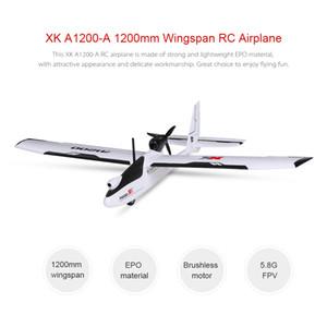 Wltoys XK A1200 3D 6G Fırçasız Motor Sabit kanatlı Uçak 5.8G FPV 2.4G 6ch S-FHSS EPO RC Uçak Planör RTF 89cm Uzunluk Drone