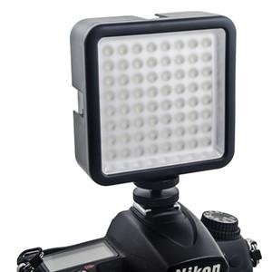 A luz de painel do diodo emissor de luz da câmera de 64 diodos emissores de luz, câmara de vídeo portátil da câmera de Dimmable conduziu a iluminação video do painel para a câmera de DSLR