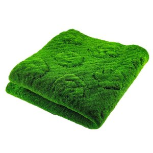 1 * 1m Artificial Lawn Moss Mat Simulation Plant Background Wall Moss Turf Artificial Turf Green Indoor Window Decoration Props