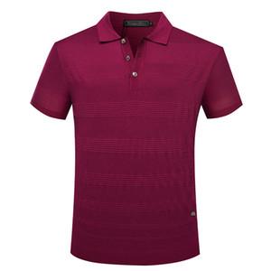 BILLIONAIRE T shirt silk men Short 2020 new arrive short sleeve fashion comfort geometry gentleman big size M-5XL free shipping
