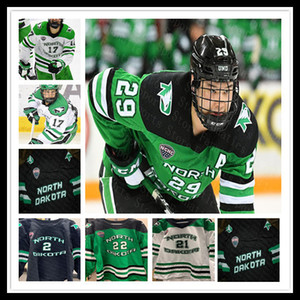 Ncaa 2020 UND College Hockey Jerseys Matt Kiersted Colton Poolman Cole Smith Kawaguchi Andrew Peski Jacob Bernard-Docker Tychonick Custom