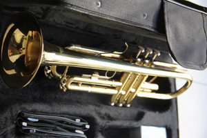 Wholesale Trumpet Bb B Flat High-quality Brass Gold-painted Trumpet 120110