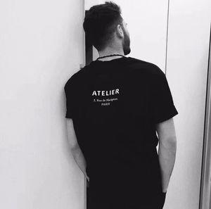 Di lusso a Parigi magliette progettista del Mens delle magliette di marca di vestiti ATELIER donne di estate t-shirt stampate Maschio superiore del 100% Cotone Tees