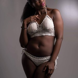 Boho-KleidungHandgefertigter Bikini aus gehäkeltem Bikini mit Bikini-Badeanzug von Beach Tankini