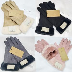 Мода Зимние Перчатки Бренд Дизайнерские Перчатки Женщины Мужчины Зима Теплая Роскошные Перчатки Очень Хорошее Качество Пять Пальцев Охватывает