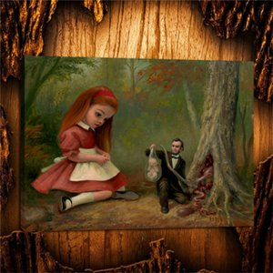Mark Ryden Renascendo Com Alice,HD Canvas Printing New Home Decoration Art Painting (Unframed Framed)