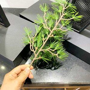 싸이프레스 가지 인공 노송 나무 잎 소나무 분기의 집 거실 녹색 식물 캐비닛 발코니 정원 장식 거짓 소나무